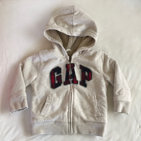 Gap Shirts Tops Baby Boys Sherpa Lined Hoodie Sweater Poshmark
